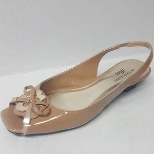 Anne Klein iflex Akjuan Nude Kitten Heel Bow Shoes
